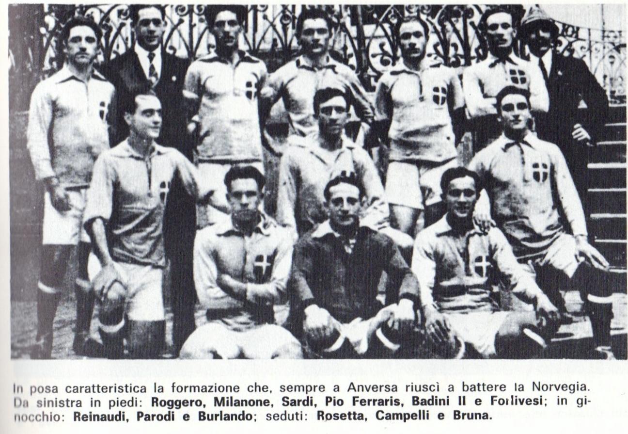 Calendario Nazionale Italiana Calcio.La Storia Della Nazionale Italiana Di Calcio 1919 1926